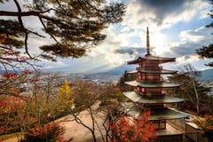 Pagoda di Chureito Immagini Stock