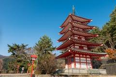 Pagoda di Chureito Immagini Stock Libere da Diritti