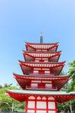 Pagoda di Chureito di estate Fotografie Stock
