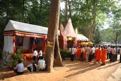 Pagoda di giorno di Phcum Ben a Phnom Penh Immagini Stock Libere da Diritti