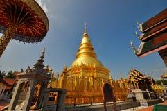 Pagoda di Hariphunchai, Lamphun, Tailandia fotografia stock libera da diritti