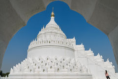 Pagoda di Hsinbyume, Myanmar fotografia stock