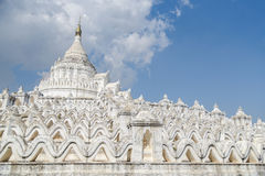 Pagoda di Hsinbyume Myatheindan in Mingun, Myanmar Fotografia Stock Libera da Diritti