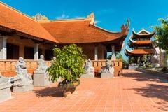 Pagoda di Hu Quoc, bello tempio buddista, isola di Phu Quoc, Vietnam Fotografie Stock Libere da Diritti
