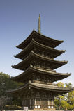 Pagoda di Kofukuji, Nara, Giappone fotografia stock libera da diritti