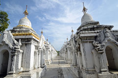 Pagoda di Kuthodaw fotografia stock