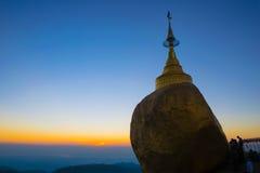 Pagoda di Kyaikhtiyo Fotografie Stock