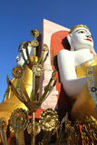 Pagoda di Kyaikpun, Pegu, Myanmar Immagine Stock Libera da Diritti