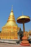 Pagoda di Lamphun Immagine Stock