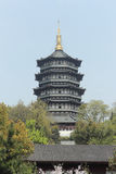 Pagoda di Leifeng, Hangzhou Fotografia Stock