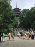 Pagoda di Leifeng, Hangzhou, Cina Immagini Stock