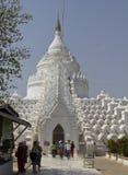 Pagoda di Myatheindan o di Hsinbyume in Mingun, fotografia stock