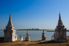 Pagoda di Myatheindan o di Hsinbyume, Mingun nel Myanmar (Burmar) Fotografia Stock Libera da Diritti