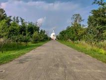 Pagoda di pace di mondo in Lumbini, Nepal immagine stock libera da diritti