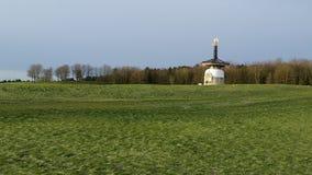 Pagoda di pace nel lago Willen, Milton Keynes Fotografia Stock Libera da Diritti