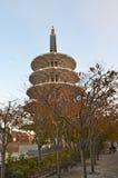 Pagoda di pace nella caduta Immagini Stock Libere da Diritti