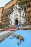Pagoda di Pahtodawgyi, Mingun, non lontano da Mandalay, Myanmar fotografie stock
