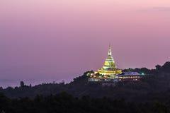 Pagoda di Phra Chedi Kaew, tempio in Tailandia Fotografia Stock Libera da Diritti