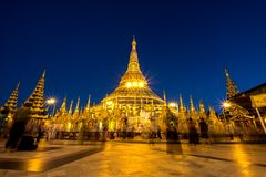 Pagoda di Shwedagon fotografie stock libere da diritti