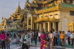 Pagoda di Shwedagon a Rangoon Fotografie Stock Libere da Diritti