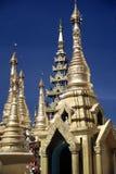 Pagoda di Shwedagon, Yangon, Myanmar Fotografie Stock