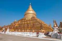 Pagoda di Shwezigon Fotografie Stock Libere da Diritti
