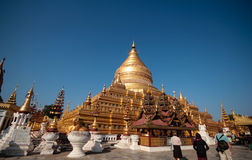 Pagoda di Shwezigon fotografia stock libera da diritti