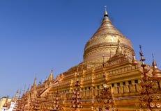 Pagoda di Shwezigon in Bagan, Myanmar Fotografia Stock Libera da Diritti