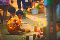 Pagoda di Songkran Immagini Stock