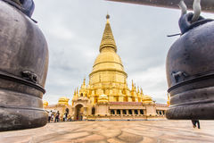 Pagoda di Sriwiengchai a Wat Phra Bat Huai Tom Immagini Stock Libere da Diritti