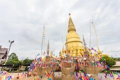 Pagoda di Sriwiengchai a Wat Phra Bat Huai Tom Fotografia Stock Libera da Diritti
