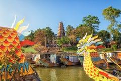 Pagoda di Thien MU, tonalità, Vietnam Immagine Stock Libera da Diritti