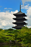 Pagoda di Toji Fotografia Stock