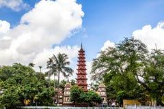 Pagoda di Tran Cuoc di Hanoi Fotografie Stock Libere da Diritti