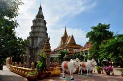Pagoda di Wat Preah Prom Rath immagine stock