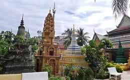 Pagoda di Wat Preah Prom Rath fotografia stock
