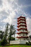Pagoda divina del jardín chino, Singapur Fotografía de archivo libre de regalías