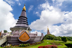 Pagoda at Doi Intanon National Park, Phra Mahathat Napapolphumis Stock Image