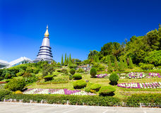 Pagoda at Doi-Inthanon Chaingmai Royalty Free Stock Photo