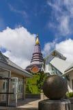 Pagoda at Doi inthanon in Chiangmai province,Thailand. Pagoda and blue sky at Doi inthanon in Chiangmai province,Thailand Stock Images