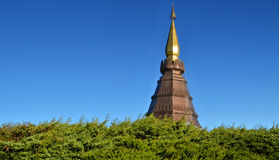 Pagoda at Doi Inthanon, chiangmai - Thailand. Stupa at Doi Inthanon, Chiang Mai, Thailand Royalty Free Stock Photos