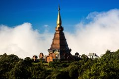 Pagoda Of Doi Inthanon Royalty Free Stock Photography