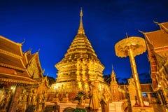 Pagoda at Doi Suthep temple. Royalty Free Stock Photos