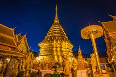 Pagoda at Doi Suthep temple. Stock Photo