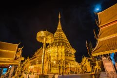 Pagoda at Doi Suthep temple. Royalty Free Stock Photos