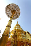 Pagoda of Doisuthep temple in Chiang Mai Royalty Free Stock Photography