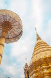 Pagoda of Doisuthep temple in Thailand Royalty Free Stock Photography