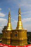 Pagoda dorata alla pagoda del kang di pla di Wat Hyua Immagine Stock Libera da Diritti