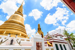 Pagoda dorata a Bangkok, Tailandia Fotografie Stock