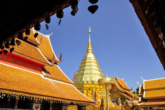 Pagoda dorata in Chiang Mai Fotografia Stock